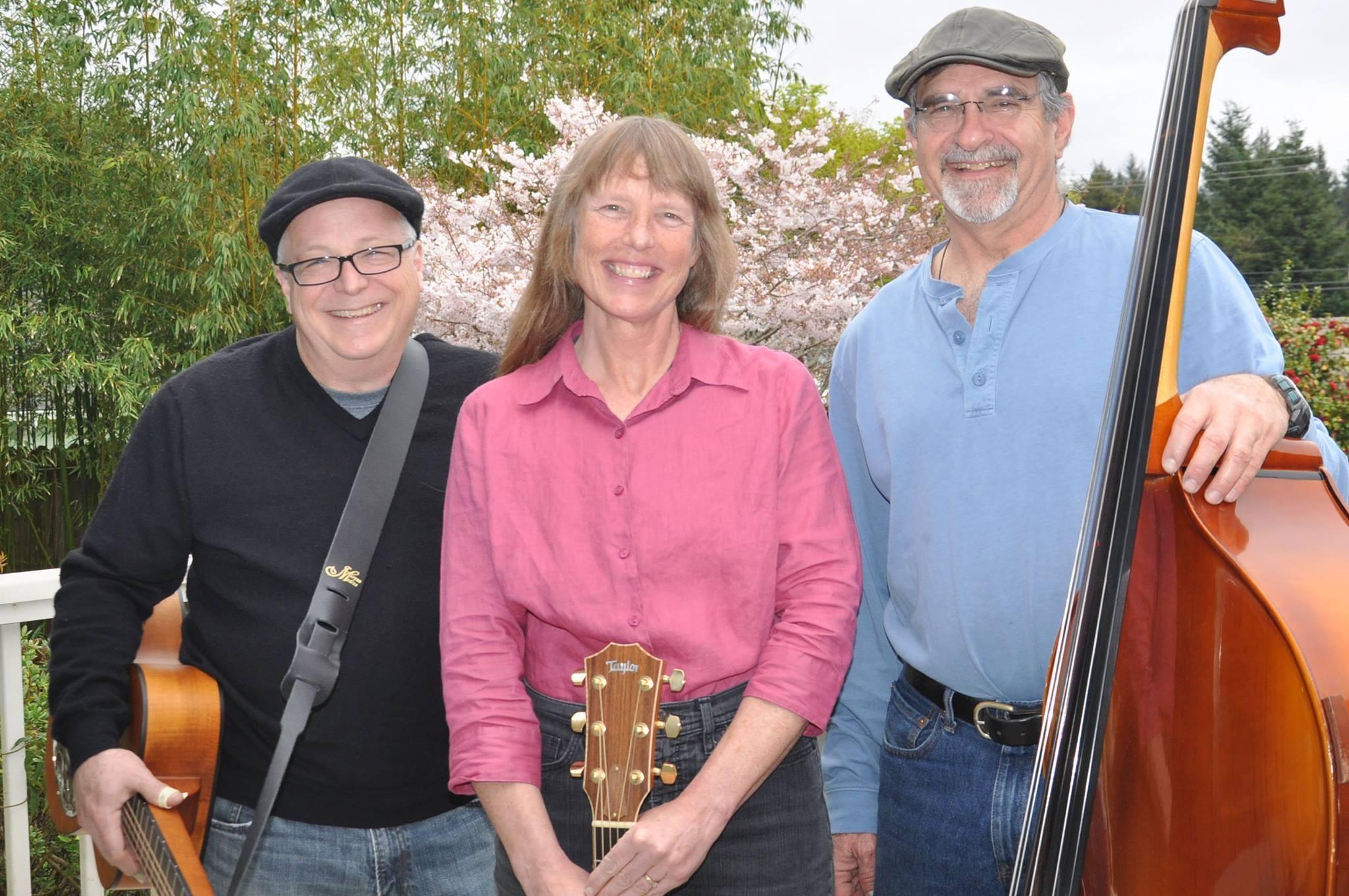 Rick Zechman, Tracy Smith, Steve Smith, band members For Folk Sake!